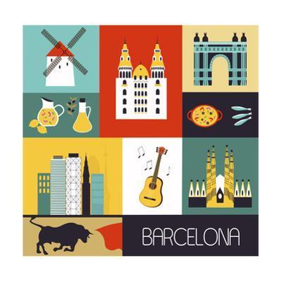 Symbols of Barcelona. by Ladoga