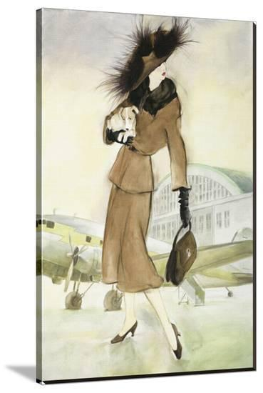 Lady at Airport-Graham Reynold-Stretched Canvas