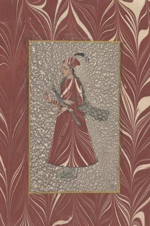 Lady Carrying a Peacock, Bijapur, C.1660