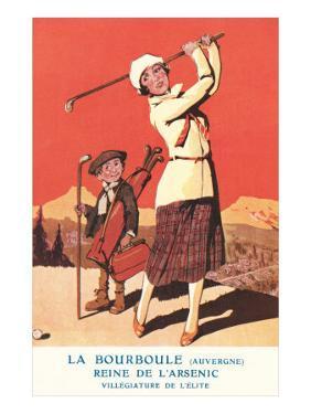 Lady Golfing at Health Spa