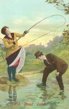 Lady Hooking Skirt