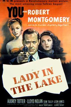 Lady in the Lake - Movie Poster Reproduction