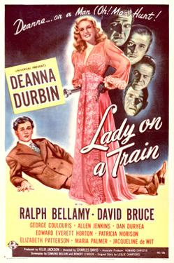 Lady on a Train - Movie Poster Reproduction