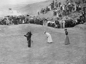 Lady Putts out During a Match
