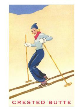 Lady Skier at Crested Butte, Colorado