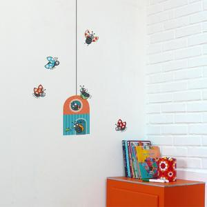 Ladybug Cottage Wall Decal