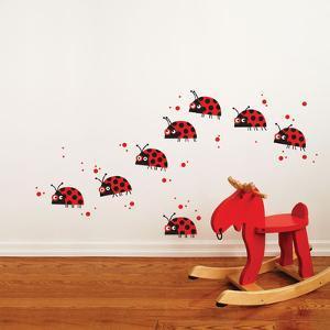 Ladybug Parade Wall Decal