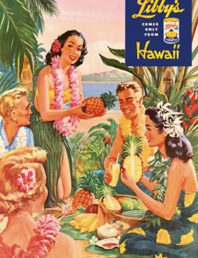 Hawaiian Luau, Libby's Pineapple Hawaii, c.1957 by Laffety