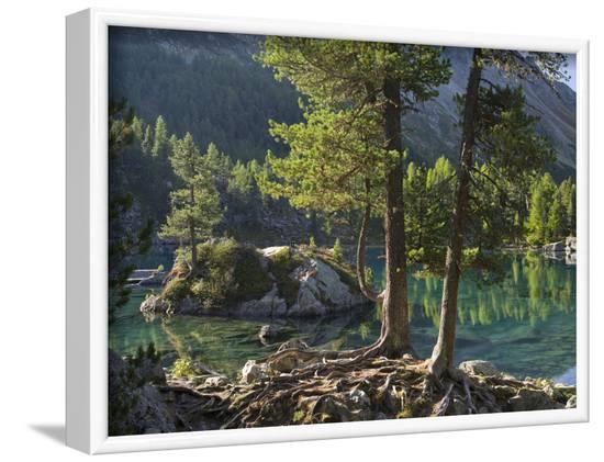Lago di Saoseo, Grisons, Poschiavo, Switzerland-Michael Jaeschke-Framed Photographic Print