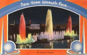 Lagoon of Nations at Night, New York World's Fair, 1939