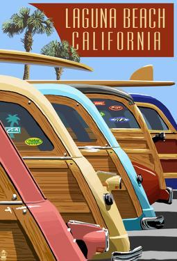 Laguna Beach, California - Woodies Lined Up