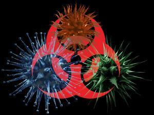 Biohazard Symbol And Viruses by Laguna Design