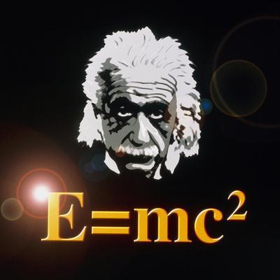 Computer Artwork of Albert Einstein And E=mc2