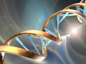 DNA Molecule, Artwork by Laguna Design