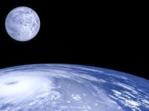 Moon Over Earth by Laguna Design