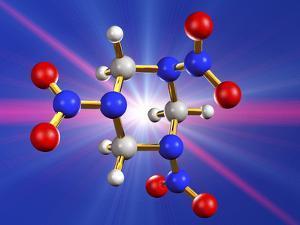 RDX Explosive, Molecular Model by Laguna Design