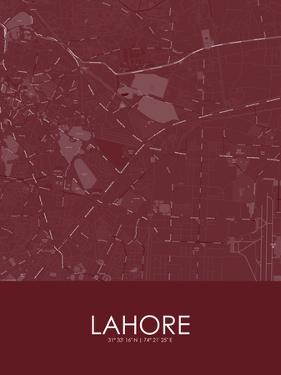 Lahore, Pakistan Red Map