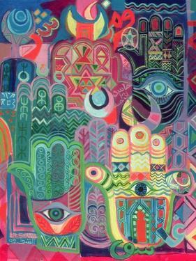 Hands as Amulets II, 1992 by Laila Shawa