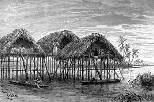 Lake Dwellings of Santa Rosa, Near Maracaibo, Venezuela, 1895