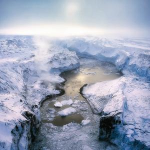 Lake Grimsvotn- The Gjalp Eruption in Vatnajokull Ice Cap, Iceland