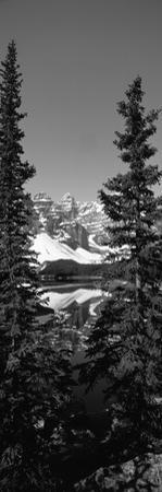 Lake in Front of Mountains, Banff, Alberta, Canada