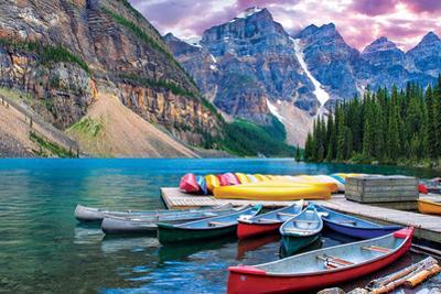 Lake Malign- Canoes On Thelake