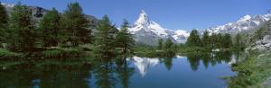 Lake, Mountains, Matterhorn, Zermatt, Switzerland