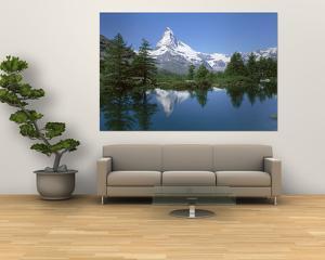 Lake, Mountains, Matterhorn, Zermatt, Switzerland