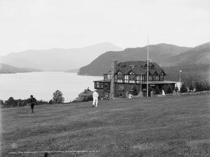 Lake Placid and Whiteface Mountain from Stevens House, Adirondack Mountains, N.Y., C.1909