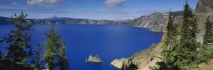 Lake Surrounded by Mountains, Crater Lake National Park, Crater Lake, Oregon, USA