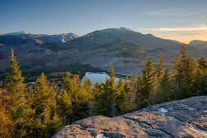 Lake surrounded by mountains, Heart Lake, Algonquin Peak, Adirondack Mountains State Park, New Y...