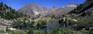 Lake Surrounded by Mountains, Mercantour, Hinterland, French Riviera