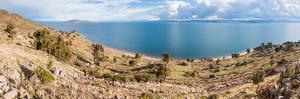 Lake viewed from an island, Lake Titicaca, Taquile Island, Peru