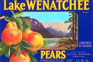 Lake Wenatchee Pear Label