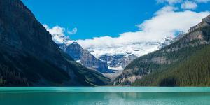 Lake with Canadian Rockies in the Background, Lake Louise, Banff National Park, Alberta, Canada
