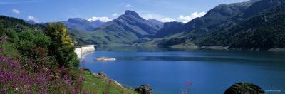 Lake with Dam, Roselend Lake, Beaufortain Area, French Alps