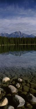 Lake with Mountain in the Background, Lake Beauvert, Pyramid Mountain, Jasper National Park, Alb...