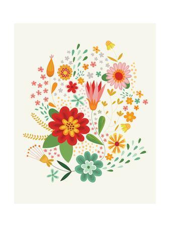 Groovy Florals III on Cream v2
