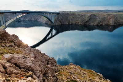 Bridge to the Pag Island, Croatia by Lamarinx