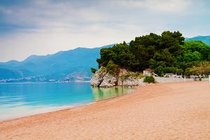 Empty Beach of Saint Stephan, Montenegro by Lamarinx
