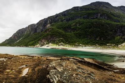 Long Exposure Panoramic Shot of the Beach Mjelle in Northern Norway by Lamarinx