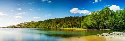 Panoramic Long Exposure Shot of A Lake in Northern Norway by Lamarinx