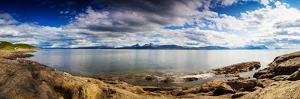 Panoramic Long Exposure Shot of A Norwegian Fjord by Lamarinx