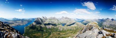 Panoramic Shot from A Peak in Northern Norway by Lamarinx