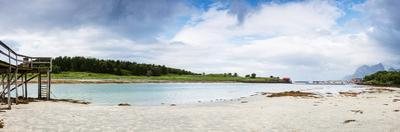 Panoramic Shot of Norwegian Seaside during Lowtide by Lamarinx