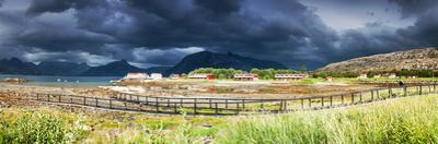 Panoramic Shot of the Village Tarnvika in Northern Norway during Lowtide by Lamarinx