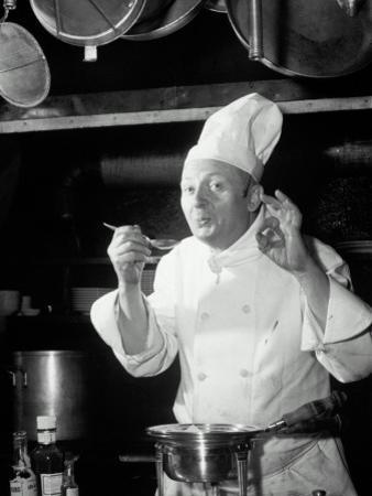 Chef Tasting Food, Ok Sign, 1942 by Lambert