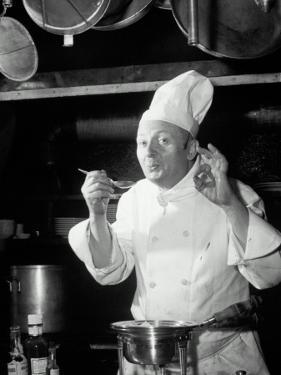 Chef Tasting Food, Ok Sign, 1942 by Lambert