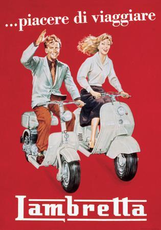Lambretta - Vintage Style Italian Poster