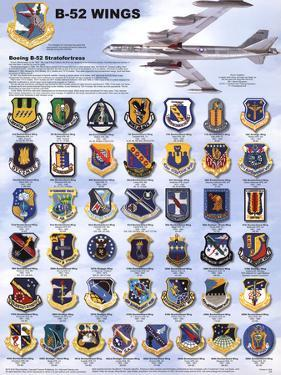 Laminated B-52 Wings Stratofortress Airplane Military Chart Poster